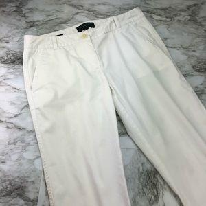 NWOT Talbots White Stretch Capri Pants Petite 2P